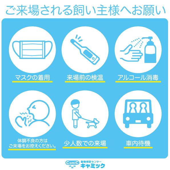 【7/29更新】新型コロナウイルス感染対策に関する当施設の取り組みと飼い主様への大切なお願い